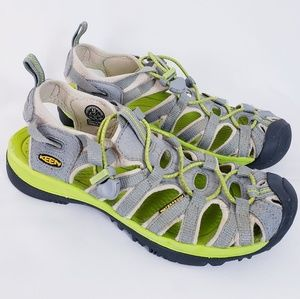 Keen whisper hiking sandal grey/chartreuse sz 8.5
